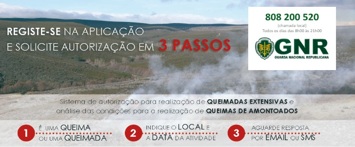 Pedidos de avaliação de queimas de amontoados; pedidos de autorização de queimadas extensivas.